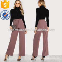 Self Tie Waist Palazzo Pants Manufacture Wholesale Fashion Women Apparel (TA3074P)