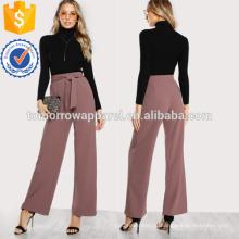 Self Tie cintura Palazzo Calças Fabricação Atacado Moda Feminina Vestuário (TA3074P)