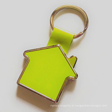 Promoção zinco liga dom casa keyring com logotipo do cliente (f1023)