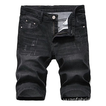 Algodão Masculina Blended Slim Denim Shorts