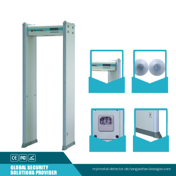 Sicherheit Visual Audible Alarm Archway Metalldetektor mit doppeltem Infrarot