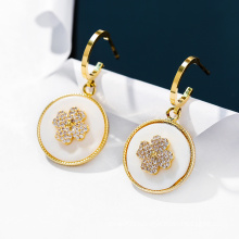 Dara 925 silver fashion round earrings