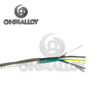 4X24AWG Typ J Thermocuple Kabel Fiberglas Insolation mit Edelstahl Braid Shield
