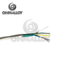 4X24AWG Type J Thermocouple Câble Fibre de verre Insolation avec acier inoxydable Braid Shield