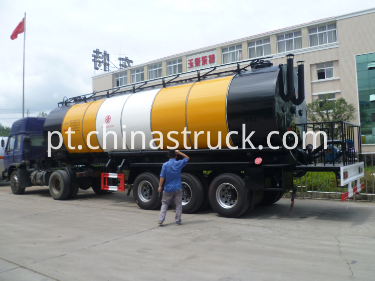30Ton heating preservation asphalt tanker