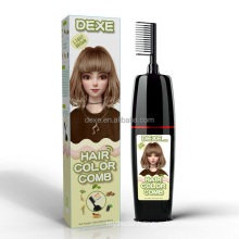 natural herbal plant clean water foam sachet hair color shampoo comb