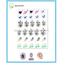 hot fashion glitter nail sticker/nail art product for girls