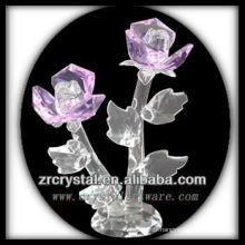 Fleur en cristal rose K9