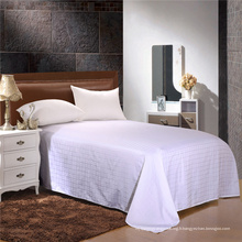 Single / Double / Queen / King Satin Check Flat Sheet for Bedding Sets (WSFS-2016006)