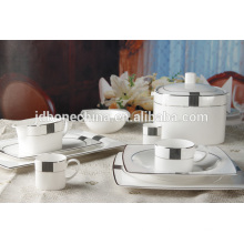 square shape eco-friendly new bone china plate coffee set