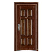 Steel Security Walnut Colour Panel Door