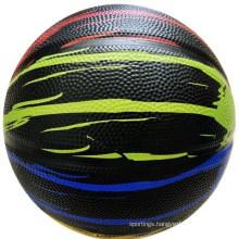 Black Color New Design Rubber Basketball Promotion