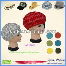 LSW07, sombrero 2014 del invierno de la manera Sombreros de encargo de las lanas del invierno al por mayor