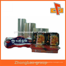 Top quality plastic shrink wrap film for instant food packing
