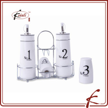 ceramic salt pepper shaker oil and vinegar bottle set wholesale