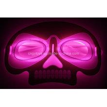 Nova máscara de brilho da forma de caveira para o Halloween