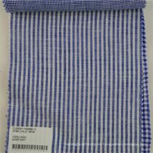 tela estampada a rayas de lino suave para vestido de camisa