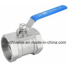 Нержавеющая сталь Ss304 резьбовой конец 1PC шаровой кран