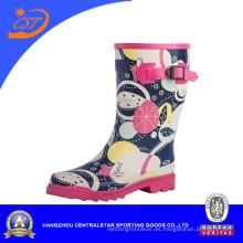 Moda para mujer goma media pierna botas de lluvia