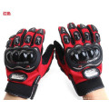 Профессиональные Пользовательские Защитный Черный Pro Байкер Перчатки Высокое Качество Кожа Мотоцикл Перчатки Для Продажи
