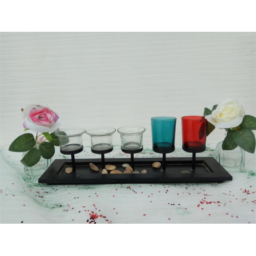 Candlelight Dinner Wooden Candle Holder