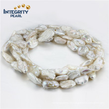 """13-15mm Biwa Perlen-Halskette 60 """"Art- und Weisegroße weiße Perlen-Halskette"""