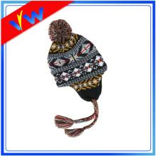 New Unisex Winter Warm Knit Ear Flap Pom Beanie Hat