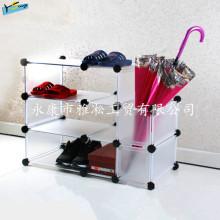 DIY Zapatos Rack Zapatos baratos Almacenamiento Rack Desmontable Wardrobe