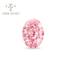 ForeverFlame  fancy pink 8ct 10mm*14mm vvs Oval Cut diamond CVD CZ Moissanite haute couture Women 18K ring Proposal ring