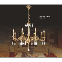 High Class Decorative Brass and Crystal Chandelier Lighting for Guest Room