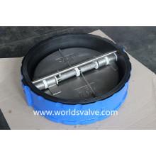 Válvula de retención de doble placa con revestimiento de goma