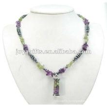 Ожерелье из магниевого гематита с бисером