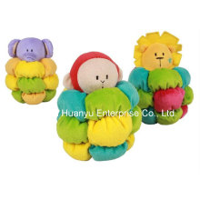Factory Supply Stuffed Plush Baby Rattle Toy