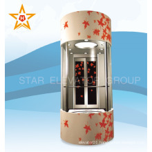 Machine roomless glass sightseeing commercial elevator                                                                         Quality Choice