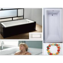 """Baño de Alcoba de 66 """"X 32"""" con Reborde de Azulejo Integral y Drenaje a la Izquierda"""