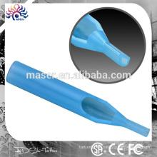 Paquete de ampolla individual estéril tatuaje desechable punta de la aguja tatuaje fábrica lote nuevo apretón de tatuaje azul