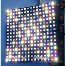256pixels adressable flexible SK6812 WS2812B LED affichage à matrice de points RGBW 5050 P10 16x16cm 8x32cm