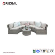 Outdoor Rattan Half Moon Sofa Set OZ-OR067