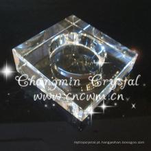 Cinzeiro apropriado do vidro de cristal da qualidade superior do preço, cinzeiro de cristal do charuto, cinzeiro ereto