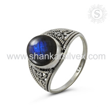 New Arrival Gracioso Labradorite Gemstone Silver Ring atacado 925 Sterling Silver Jewelry Jaipur Online Prata Jóias