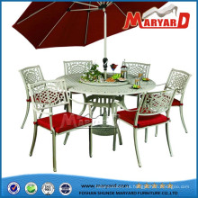 Diseños de mesa de comedor de paraguas de jardín muebles de Guangdong