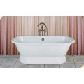 Enamel Dual Cast Iron Bathtub With Pedestal Base