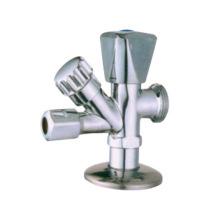 Латунный угловой клапан J7006 хромированный никелированный