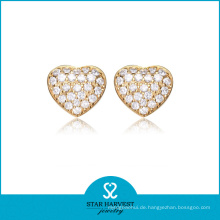 Lovely Heart Shaped Golden Silber Schmuck Set (SH-J0156)