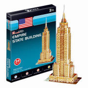 Mini 3D Puzzle Empire State Building Model for Toys Chain Stores, Channels