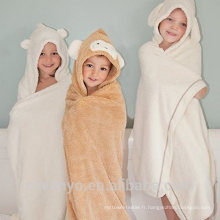 PremiumTowels séchage rapide Super design du visage animal moelleux Suit pour le bain Boys and Girls serviette de bain bébé