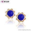 91214 xuping luxe boucles d'oreilles pour dames à la mode en or 18 carats de zircon synthétique