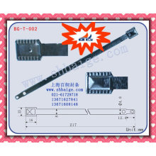 Container metal flat seal BG-T-002 for security use, sealing,metal sealing,metal stamp seal