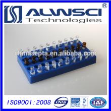 PP Vial Rack Blue para frasco de amostras de 2 ml