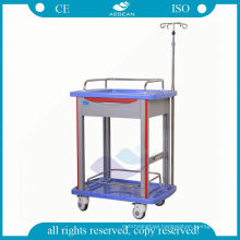 Medication in ABS material with infusion hooks hospital iv trolley